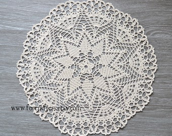 12 Inches round doily, Crochet doily lace cotton handmade doily vintage doily, doilies, cotton doily