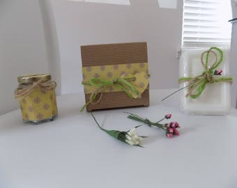 Lemongrass Soy Candle And Soap Gift Set Birthday Present
