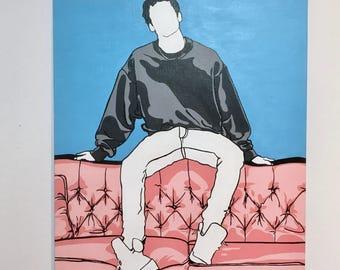 Original acrylic painting study - Pop Art - 90's vibe