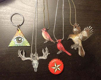 Custom Field Guide-Inspired Nature Pendants and Charms
