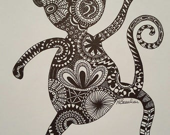 Dancing Monkey By Holly's Designs