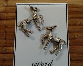 Animal Earrings : 3D Deer Earrings