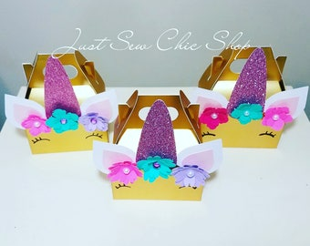 Unicorn Treat Boxes, Unicorn Favor Boxes