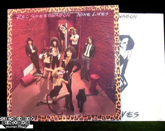 REO Speedwagon Nine Lives VG+ Vintage Vinyl LP Record Album