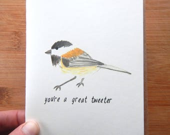 you're a great tweeter