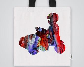 Young driver Tote Bag Shoulder Bag Market Bag Art Print