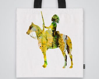 Proud Chief Tote Bag Shoulder Bag Market Bag Art Print