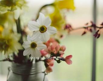 Still Life Photograph, Wildflowers Photo, Rustic Home Decor