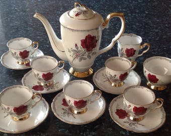 Roses to Remember Coffee set