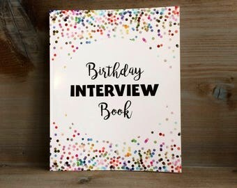Birthday Interview Book, Birthday Book, Birthday Interview, First Birthday Gift, Baptism Gift, Kids Birthday, Childrens Birthday Gift