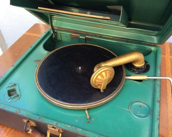 1920s Victor Orthophonic Portable Record Player Phonograph VV 2-35 Victrola