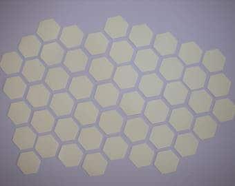 Hexagon templates 1/2 inch