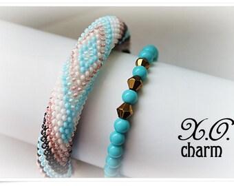 "Set of bracelets ""Azure"""