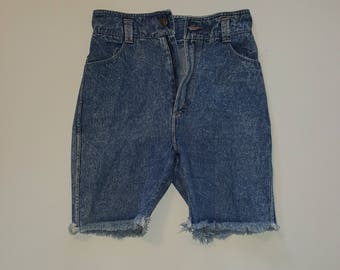 Vintage Women's High-Waisted Cutoff Jean Shorts