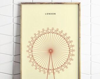 London Minimalist Print