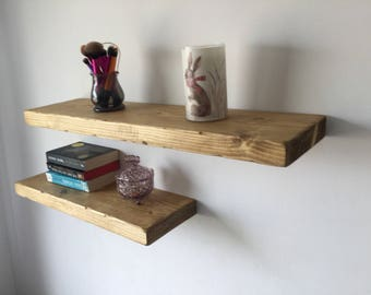 Shabby Chic Shelves, Floating Shelves, Eco Friendly, Reclaimed Wood Shelves, Shabby Chic Decor, Upcycled Recycled Repurposed, Rustic Shelf