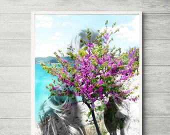 Spring abstract print, digital photo abstract art