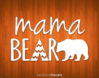 MAMA BEAR DECAL, yeti decal mom, car decals for women, yeti decal for women, bear decal, mama bear, mama bear sticker, bear sticker, vinyl