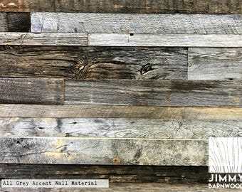 Reclaimed Barn Wood Accent Wall Material | All Gray