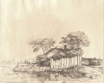 A Cottage With A White Paling