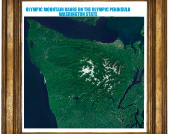 very large highly detailed poster of The Olympic MT RANGE WA