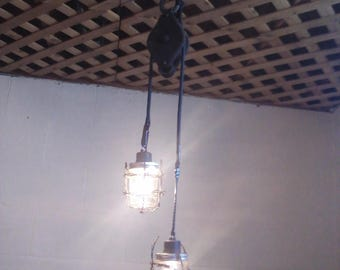 Industrial Pulley Decorative Lights