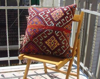 Turkish handmade Kilim pillow 20x20 inches