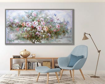 "Rose, Flower, Floral, 24x48""/60x120cm Italian Art Painting"