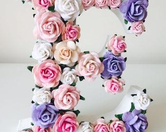 custom order floral and flower letter // baby shower gift //christening gift // wedding gift // birthday gift // nursery decor //engagement
