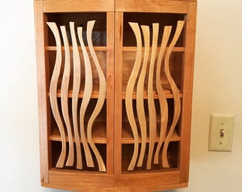 Whimsical Cherry Wall Cabinet