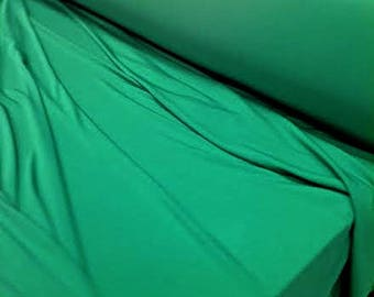 Jersey Green Fabric, Jersey Forest Green Material Sold By the Yard