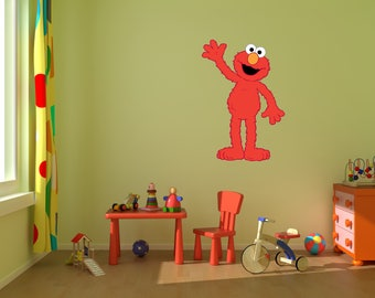 sesame street decal etsy. Black Bedroom Furniture Sets. Home Design Ideas
