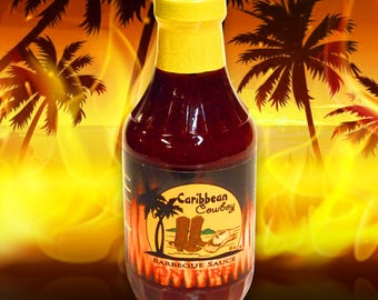 Caribbean Cowboy On Fire BBQ Sauce