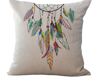 Dreamcatcher New 2017 Cat Pillow Cover gift  hight quality Decorative Pillows Sofa Throw Pillow Cover 2