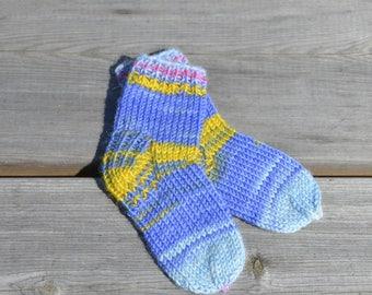 baby socks, hand knitt, knit socks