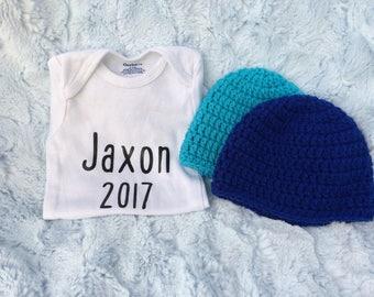 Baby Onesie & Hat Set