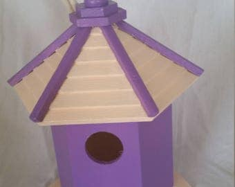 Mothers Day Gift Idea Lilac Hand Painted Birdhouse