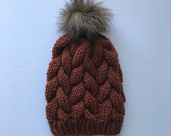 The Prem Knits Braided Cable Beanie