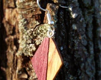Amarante diamond - earring drink France oak