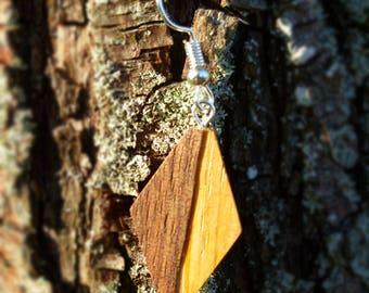 Walnut - diamond loop earring drink France oak