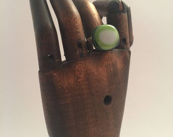 Fused glass ring size 7