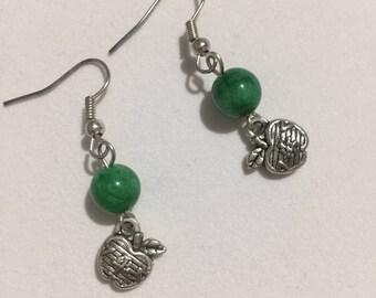 Green Apple Earring
