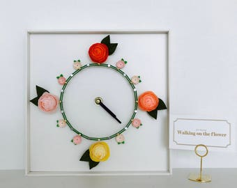 Paper flower with clock