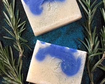 Blue Swirl Handmade Soap