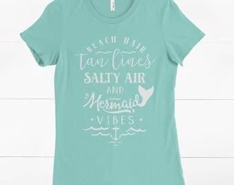 Beach Shirt - Mermaid shirt - Girly Shirt - Gift for her