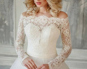 bridal wedding dress, lace wedding gown, bridal dress,  WEDDING