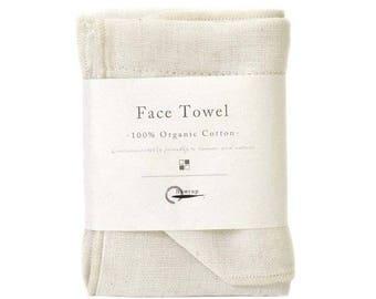 Nawrap Organic Cotton Face Towel, Ivory, Naturally Antibacterial