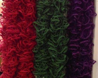 Frilly scarves