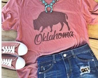 Oklahoma Buffalo Tee