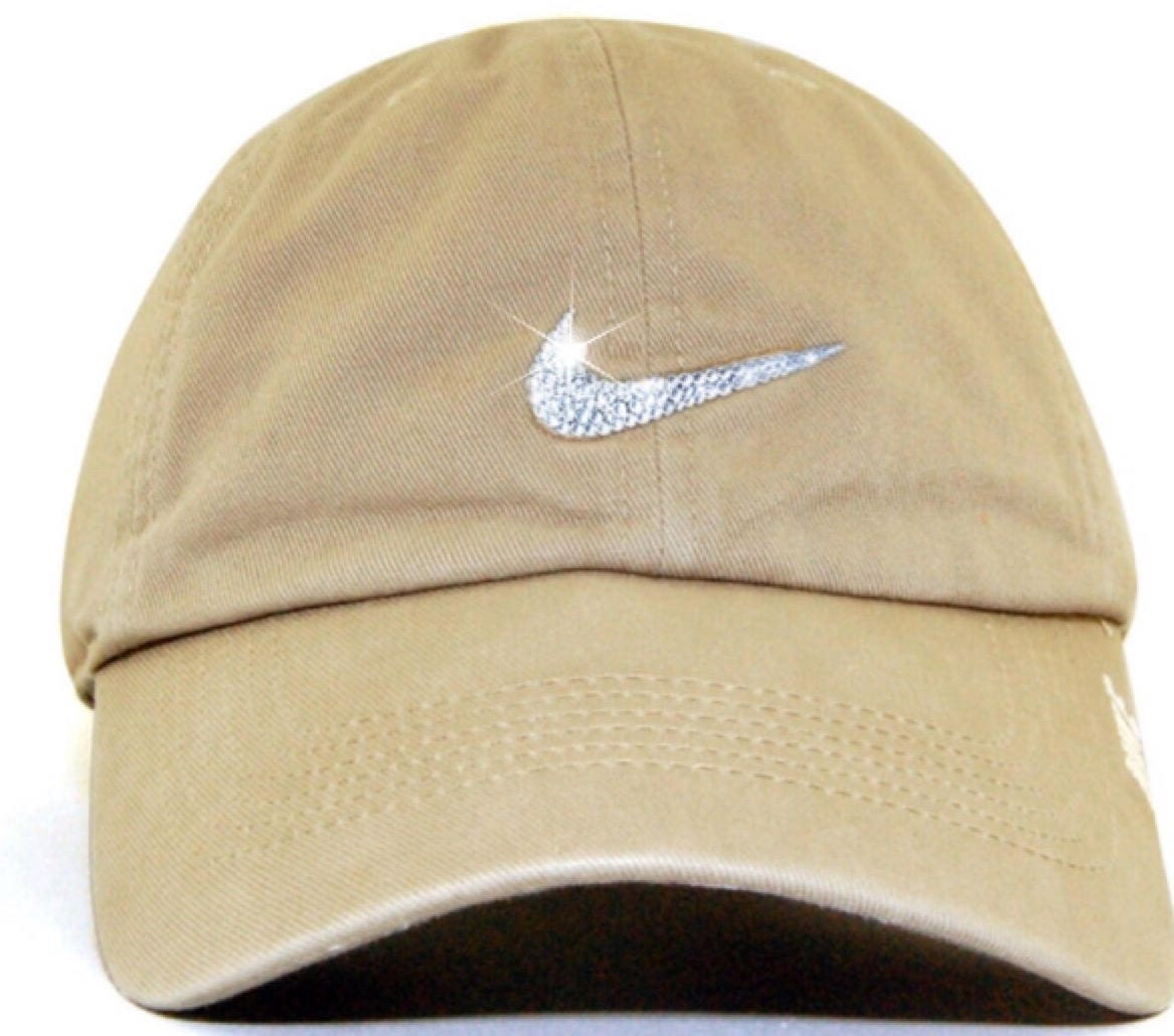 0350430a25cbe Bling Custom Nike Legacy 91 Cap In Nude Snap Back Bling With Swarovski  Crystals